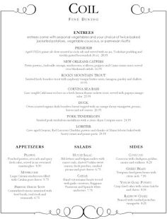 1000 Images About Menu Idea On Pinterest Fine Dining Menu Fine Dining And