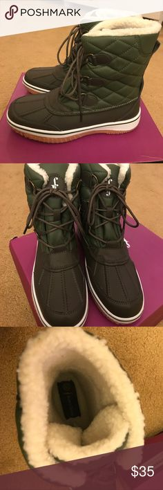 Snow Boots Olive green. Size 8.5. Brand new Room of Fashion Shoes Winter & Rain Boots