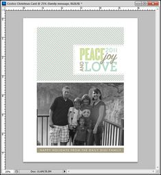 Tutorial: Creating a Custom Christmas Card in Photoshop CS5 to Print At Costco
