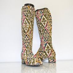 1960's Tapestry Boots