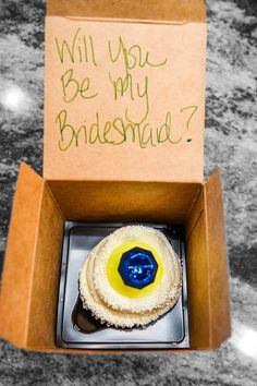 Propose to your bridesmaids! HOw cute is this? Put a ring pop on top!