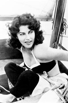 """avagardner: """" Ava Gardner on the set of 'On The Beach', 1959. """""""