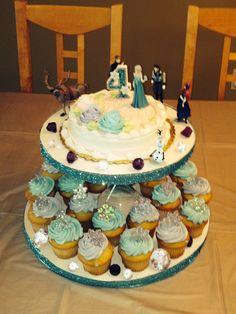 Frozen birthday cake - birthday candle by JDotLove Creations  #frozencake #frozencandle #jdotlovecreations www.jdotlove.etsy.com
