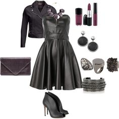 """""""plus size/sexy in leather"""" by kristie-payne on Polyvore"""