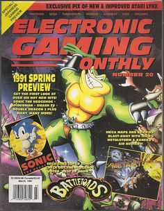 Electronic Gaming Monthly (Is this Battletoads? Classic Video Games, Retro Video Games, Video Game Art, Gaming Magazines, Video Game Magazines, My Magazine, Magazine Covers, Computer Video Games, Nintendo Sega