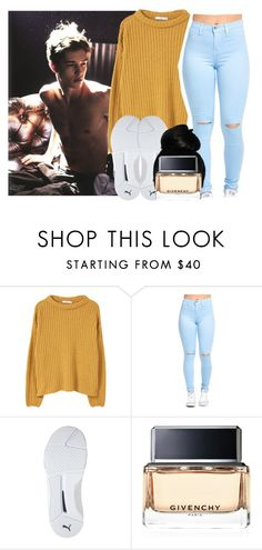"""""""Song cry -August alsina"""" by pretty-ambi ❤ liked on Polyvore featuring MANGO, Puma and Givenchy"""