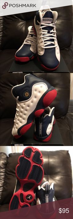 Jordan Jumpman Team ll BG Jordan Jumpman red, white and blue. New with box. Never been worn Jordan Shoes Sneakers
