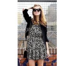 Europe Sleeveless Fashion Dress Black