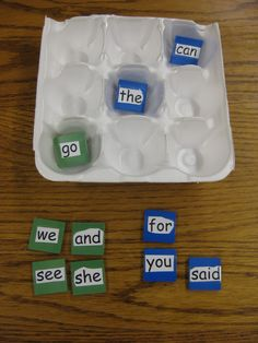 Sight word Tic Tac Toe - Free idea, quick to make!  Works well with words from word work too.