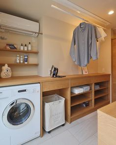 Laundry Room Organization, Laundry Room Design, Organization Ideas, Dream Home Design, House Design, Landry Room, Zen House, Contemporary House Plans, Minimalist Home Interior