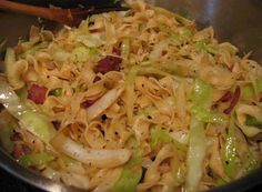 best yumy recipes: Cabbage & Noodles with Bacon