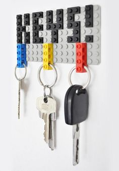 How to Repurpose Your Old LEGO Bricks into a Functional Hanging Key Holder « MacGyverisms