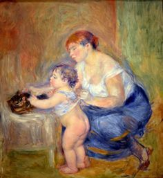 Pierre Auguste Renoir - Mother and Child, 1895 at the Legion of Honor (Fine Arts…