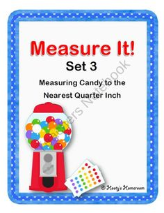 Measure It! Measuring to the Nearest Quarter Inch product from HootysHomeroom on TeachersNotebook.com