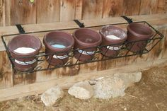 Great idea for Goat feed supplementation (baking soda, mineral, etc).