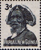 Papua New Guinea 1961 Tribal Elder SG 29 Fine Mint Scott 154 Other Papua New Guinea Stamps HERE!