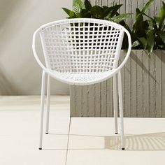 Sophia Silver Dining Chair - CB2 - $99.95 - domino.com