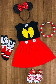 Your place to buy and sell all things handmade Girls Minnie Mouse Dress Perfect for your Disney Vacation! Available in Sleeveless Tank or Flutter Short Sleeve Comes in sizes and Cotton, Spandex Includes: Dress Only Little Girl Outfits, Baby Outfits, Disney Outfits, Baby Girl Dresses, Baby Dress, Cute Dresses, Kids Outfits, Cute Outfits, Disney Clothes Kids