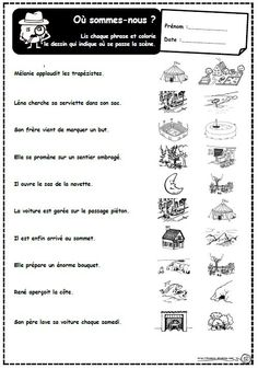 French Worksheets, French Language, Comprehension, Teaching, Education, Cycle 2, Logo, School, Learning