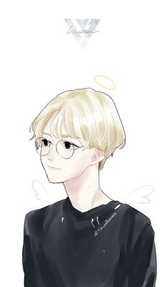 "- "" baby you're my angel👼💕"" Debut Themes, Jeonghan Seventeen, Seventeen Wallpapers, T Art, Korean Art, Kpop Fanart, Hoshi, Manga, Vernon"
