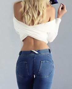 be257a29 Sexy Fitness Push Up Jeans Hip Elastic Leggings. Denim LeggingsJeans PantsYoga  ...