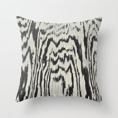 Zebra Wood Throw Pillow by Caleb Troy - $20.00