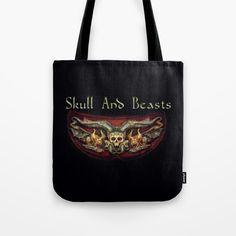 Skull And Beasts 2 Tote Bag by dagmarreneeritter Ted, Beast, Reusable Tote Bags, Skull, Backpacks, Stuff To Buy, Backpack