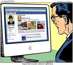 Superman's social media nightmare...