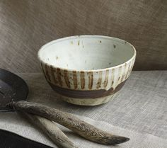 Brown pottery bowl. Ceramic speckled by FourSeasonsPottery on Etsy, $55.00