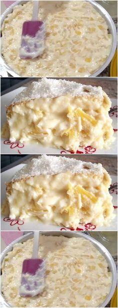 Um dos recheios mais gostosos e tradicionais. Pineapple cream for cake filling. One of the most delicious and traditional fillings. Cupcake Recipes, Cupcake Cakes, Snack Recipes, My Favorite Food, Favorite Recipes, Delicious Desserts, Yummy Food, Sweet Cakes, I Foods
