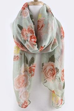 """French Rose Scarf on Emma Stine Limited"" This screams Paris. Great for dressing up a casual t-shirt and jeans while exploring the city. Turbans, Pretty Outfits, Cute Outfits, Estilo Glamour, Cute Scarfs, Fashion Jewelry Necklaces, Models, T Shirt And Jeans, Torn Jeans"