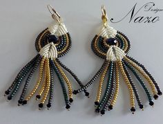 Beaded Earrings - Beaded Macrame Earrings. $18.50, via Etsy.