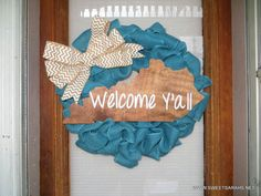 State of Kentucky Wooden Sign & Wreath  (Welcome Y'all) on Etsy, $60.00