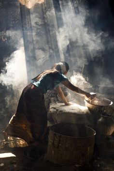 Splendid dialogue between light, dark, and smoke. Found in a series of photographs of India on dezineguide.com with this caption: India © Bas Uterwijk Burma (Myanmar)