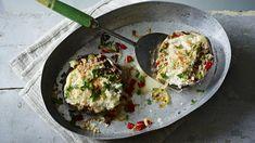 BBC Food - Recipes - Stuffed Portobello mushrooms with blue cheese