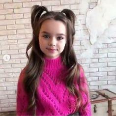 Anastasia Knyazeva, Little Girls, Kids Outfits, Turtle Neck, Children, Hair Styles, Model, Fashion, Infant Photos