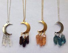 Moon Child Necklaces von ZingaraJewels auf Etsy, $22.00