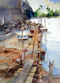 Chan Chang How #watercolor jd