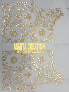 Hand Embroidery Dress, Embroidery Suits Design, Indian Embroidery, Gold Embroidery, Embroidery Fashion, Embroidery Designs, Kutch Work Designs, Hand Work Design, Bead Embroidery Jewelry