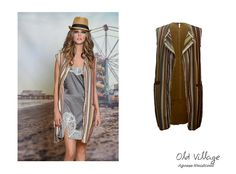 Complement your look with a different style... Agnese #Waistcoat #SleevelessJacket #KneeLength #StripedPattern #SuedeLook #MadeinItaly #SS2016 #SpringSummer2016 Collection at #OldVillageBrighton - SHOP NOW - http://www.oldvillage.co.uk/#!product-page/o475y/ea732d43-d67f-3cfb-960c-0930063795d8