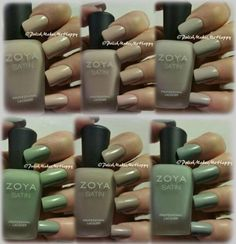 Zoya Nail Polish and Treatments! if you don't have any in your polish collection, you need to get some! One of THE nicest formulas, it's perfect every time! The Naturel Satins Collection, well there are no words. Application was flawless, colors flawless, and the sheen, which is what I would call a flat gloss, well, it is just beautiful! l to r, top row is Ana, Brittany, and Leah. l to r, bottom row is Sage, Rowan, and Tove.