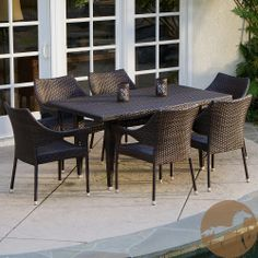 Christopher Knight Home Cliff 7-piece Outdoor Dining Set | Overstock.com Shopping - Big Discounts on Christopher Knight Home Dining Sets