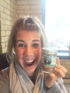Kirsten from Team O'Leary. Looks like she got her Mr. Wonderful's Cookie Butter cupcake jar.