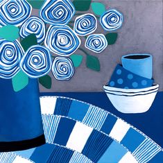 """Blue Summer"" by Lisa Frances Judd. Paintings for Sale. Bluethumb - Online Art Gallery"