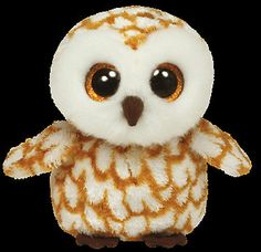 """Ty Swoops 6"""" Owl Beanie Baby Boos Boo's 2013 New Mint in Hand in Stock 