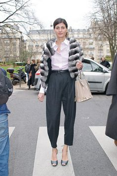 Ya'll know I love these tailored pants...  Giovanna Battaglia