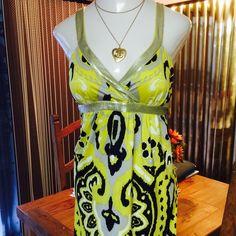 NWT INC  Sequins Bandana Sleeveless Midi Dress XL GORGEOUS! INC International Concepts Black & Yellow with Silver Sequins Polyester & Spandex Bandana Midi Dress XL RETAIL $129.00 INC International Concepts Dresses Midi