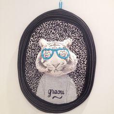 Trophée tigre à lunettes, tiger, cute, child, room, nanelle, minimel