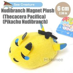 Sea Creature Pikachu Nudibranch Magnet Plush (Thecacera Pacifica/6 cm) – Hamee