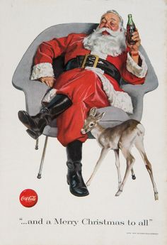Coca-Cola « … and a Merry Christmas to all »  Santa Claus- Affiches Marci Collection